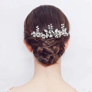 2 pcs hair comb pin pearl crystal bridal wedding